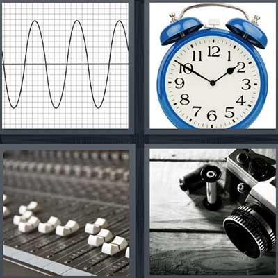images for 4 pictures 1 word camera clock