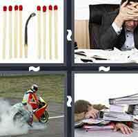 pics 1 word 7 letters Burnout