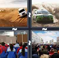 4pics1word answers cheats level RallyThe answer is: Rally