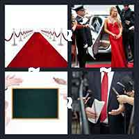 Four Pics One Word  Letters Red Carpet