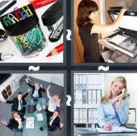 4pics1word answers cheats level OfficeThe answer is: Office