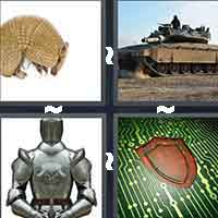 4pics1word answers cheats level ArmorThe answer is: Armor