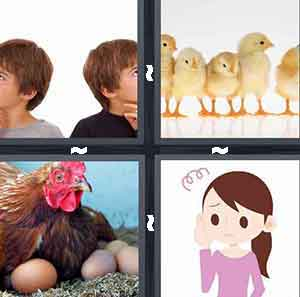 Pictures  Word  Letters Chicks Hen Eggs