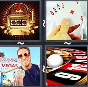 4 pics 1 word casino gambling
